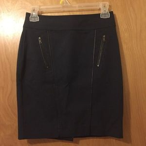 Ann Taylor Leather Accents Pencil Skirt